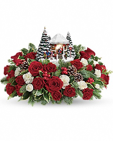 Shop Thomas Kinkade's Jolly Santa bouquet