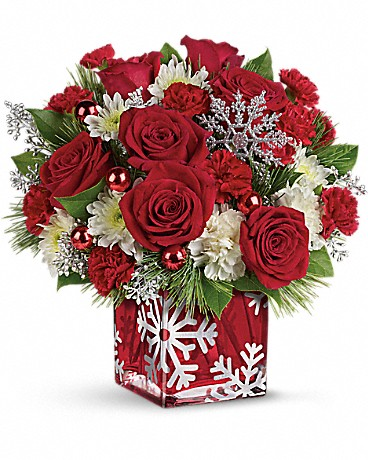Shop Teleflora's Silver Christmas Bouquet