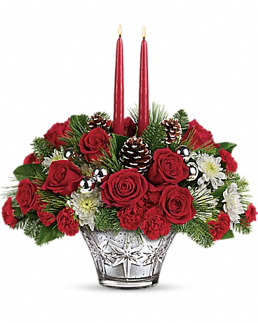 Shop Teleflora's Sparkling Star Centerpiece