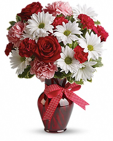 Shop Teleflora's Hugs and Kisses Bouquet with Red Roses