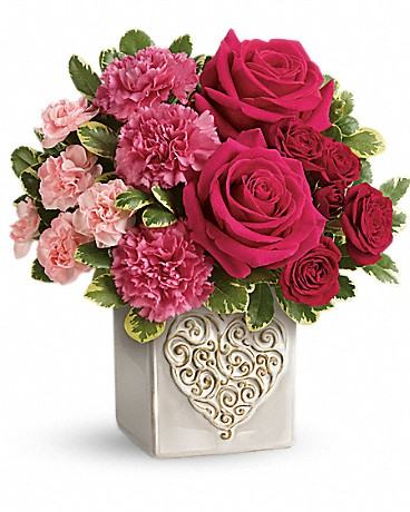 Shop Teleflora's Swirling Heart Bouquet