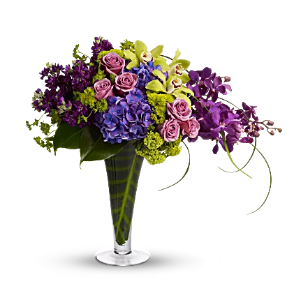 bright hydrangeas and flowers in vase