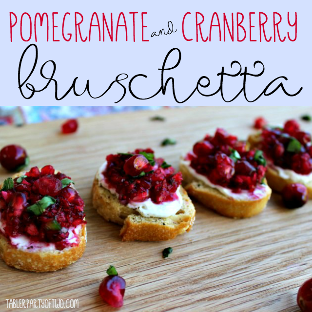cranberry and pomegranate appetizers