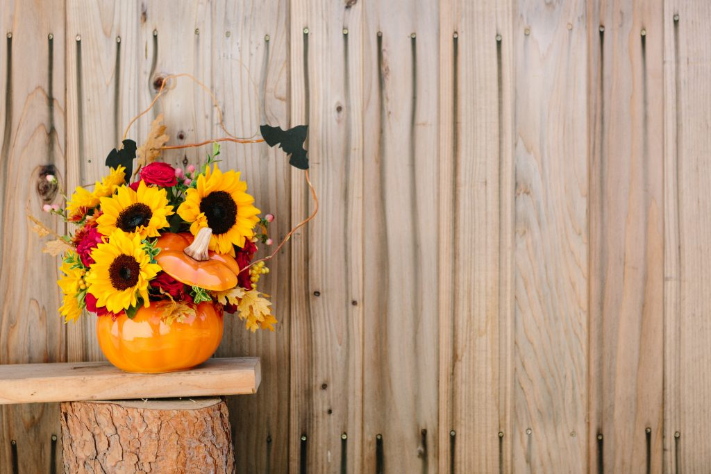 Fun And Spooky Halloween Flower Arrangements For