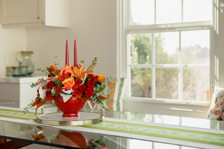 bouquets de thanksgiving à employer pour votre tableau centre de