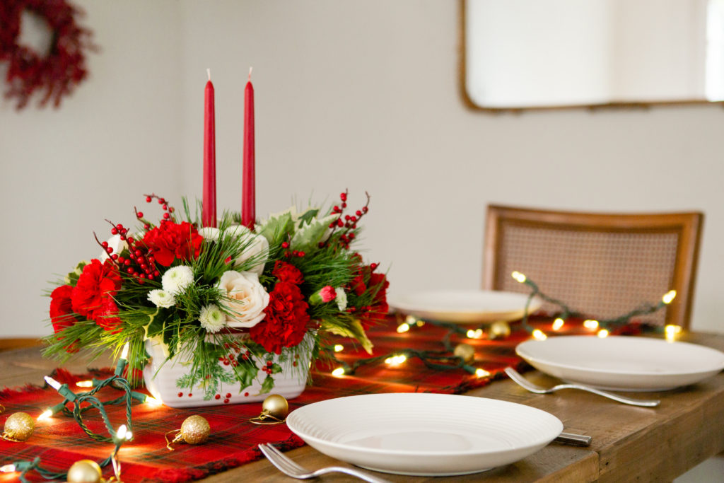 Christmas Greenery Centerpieces.Christmas Centerpieces For Your Holiday Table Teleflora Blog