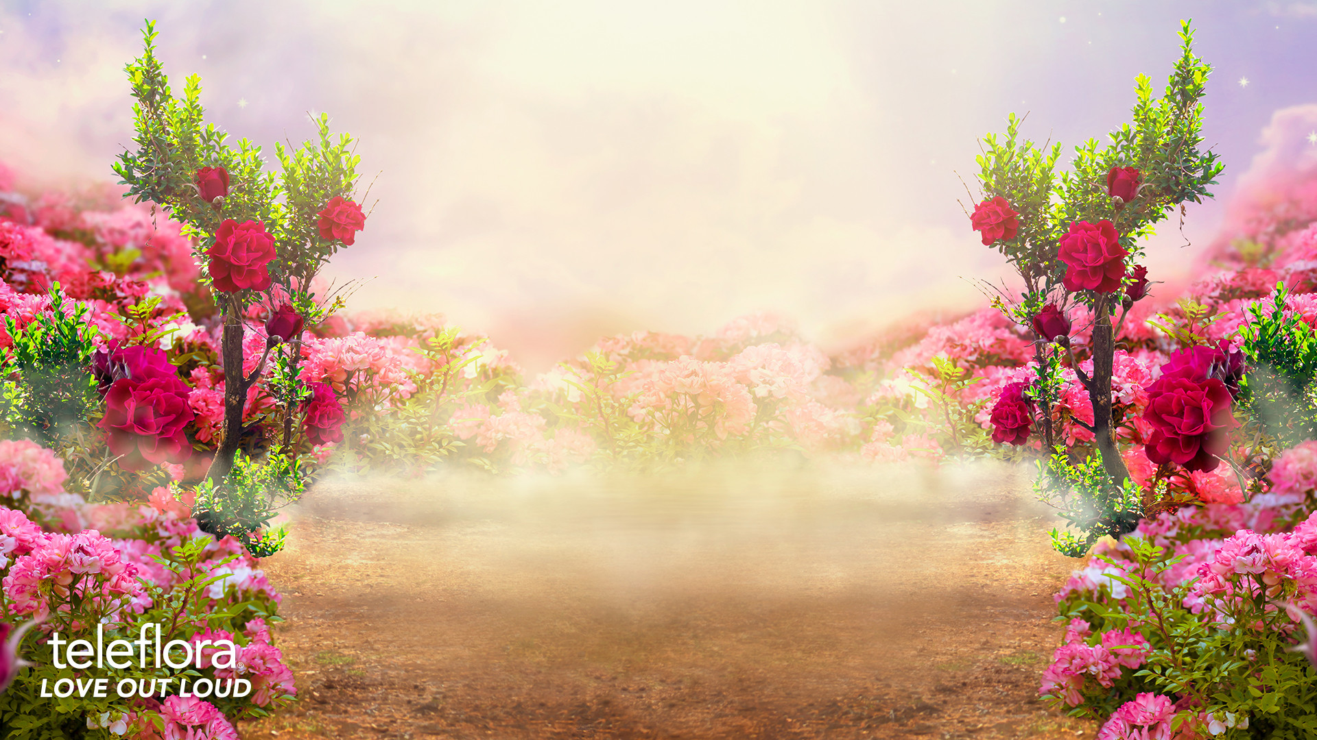 whimsical flower background