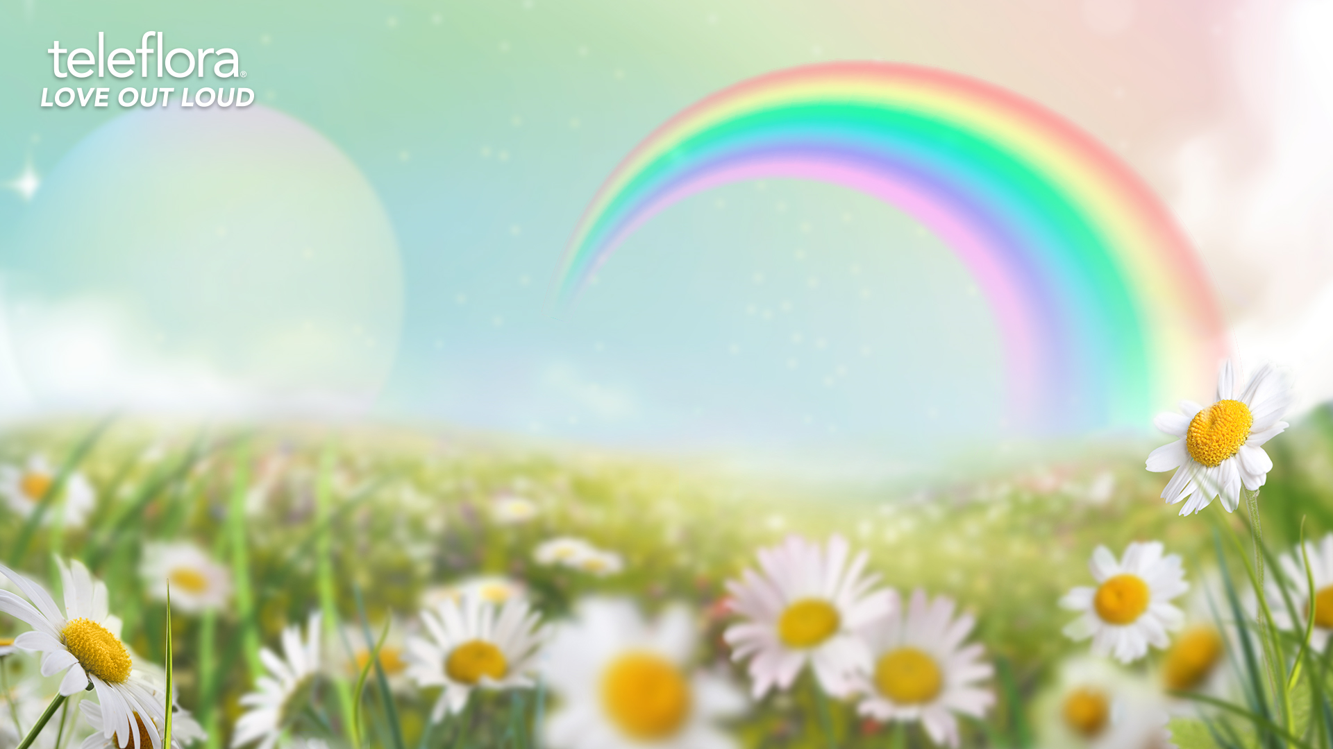 whimsical rainbow background